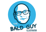 Illustrator | Logo ontwerper | The bald guy