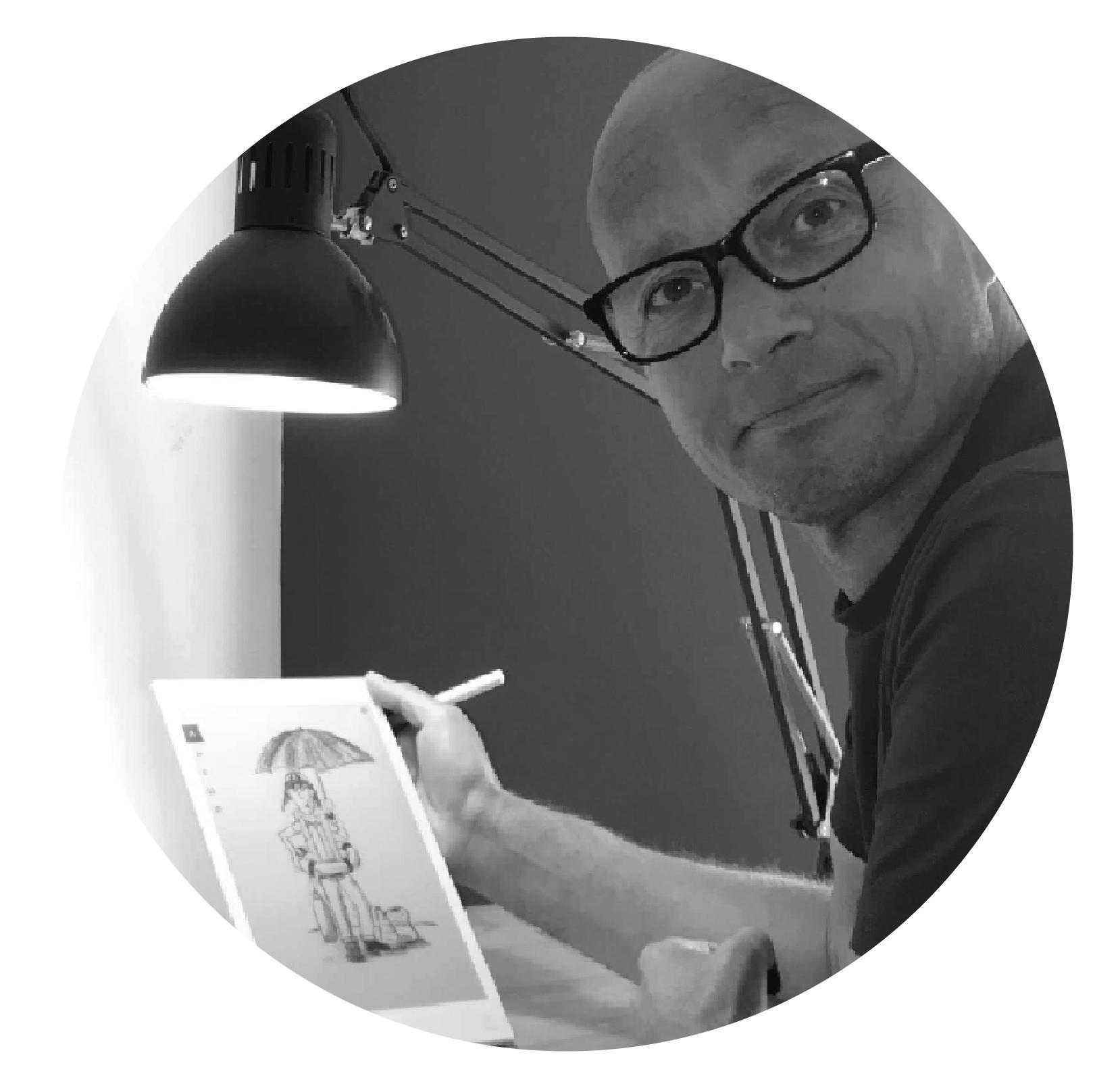 Illustrator en logo ontwerper Bram Donker